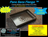 "12"" x 10"" x 2""   •NSF Certified Rounded/Closed Corners• •Flange-Free• •Vertical Sides•"