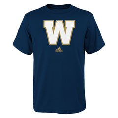 Winnipeg Blue Bombers Adidas Youth (8-18) S/S Primary Logo Tee