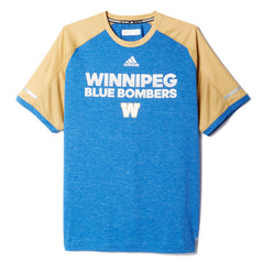 Winnipeg Blue Bombers Adidas Sideline S/S Player Performance Crew
