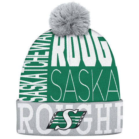 Saskatchewan Roughriders Adidas Cuffed Pop Knit Toque