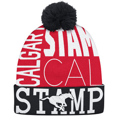 Calgary Stampeders Adidas Cuffed Pop Knit Toque
