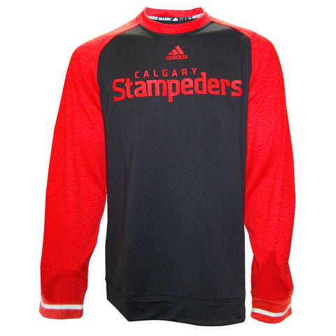 Calgary Stampeders Adidas Sideline L/S Player Performance Crew