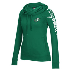 Saskatchewan Roughriders Adidas Women's Funnel Neck Hoodie