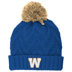 Winnipeg Blue Bombers Adidas Women's Cuffed Pom Toque