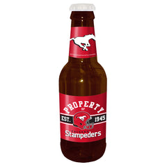 "Calgary Stampeders 14"" Brown Beer Bottle Coin Bank"