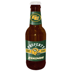 "Edmonton Eskimos 14"" Brown Beer Bottle Coin Bank"