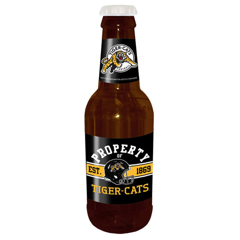 "Hamilton Tiger-Cats 14"" Brown Beer Bottle Coin Bank"