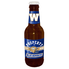 "Winnipeg Blue Bombers 14"" Brown Beer Bottle Coin Bank"