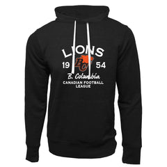 BC Lions Adult Black French Terry Fashion Hoodie - Design 08