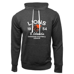 BC Lions Adult Charcoal Heather French Terry Fashion Hoodie - Design 08