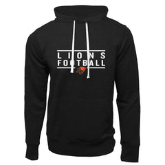 BC Lions Adult Black French Terry Fashion Hoodie - Design 24