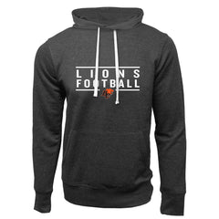 BC Lions Adult Charcoal Heather French Terry Fashion Hoodie - Design 24