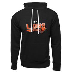BC Lions Adult Black French Terry Fashion Hoodie - Design 25