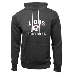 BC Lions Adult Charcoal Heather French Terry Fashion Hoodie - Design 27
