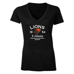 BC Lions Women's Tri-Blend V Neck T Shirt - Design 08