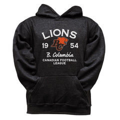 BC Lions Youth Black Hoodie - Design 08