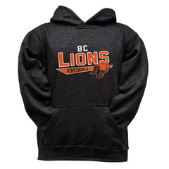 BC Lions Youth Black Hoodie - Design 25