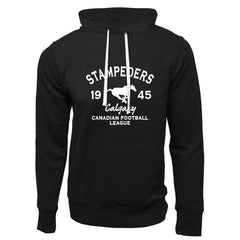 Calgary Stampeders Adult Black French Terry Fashion Hoodie - Design 08