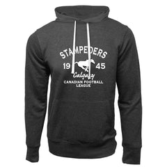Calgary Stampeders Adult Charcoal Heather French Terry Fashion Hoodie - Design 08