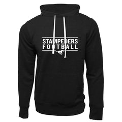 Calgary Stampeders Adult Black French Terry Fashion Hoodie - Design 24