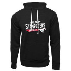 Calgary Stampeders Adult Black French Terry Fashion Hoodie - Design 25