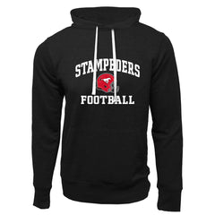 Calgary Stampeders Adult Black French Terry Fashion Hoodie - Design 27