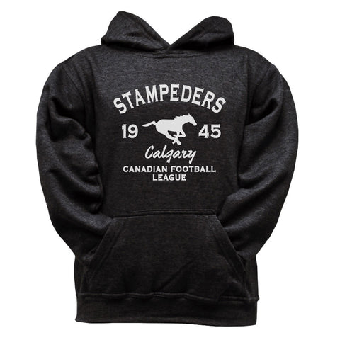 Calgary Stampeders Youth Black Hoodie - Design 08