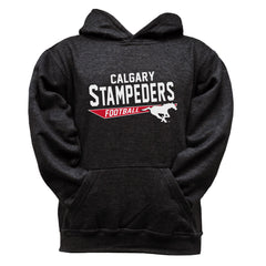 Calgary Stampeders Youth Black Hoodie - Design 25