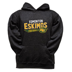 Edmonton Eskimos Youth Black Hoodie - Design 25