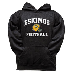 Edmonton Eskimos Youth Black Hoodie - Design 27