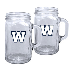 Winnipeg Blue Bombers 2pk. Mason Mug Set