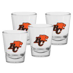 BC Lions 4pk. 1.5oz Round Shot Glass Set