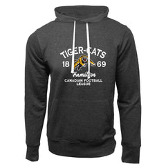 Hamilton Tiger-Cats Adult Charcoal Heather French Terry Fashion Hoodie - Design 08
