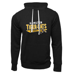 Hamilton Tiger-Cats Adult Black French Terry Fashion Hoodie - Design 25