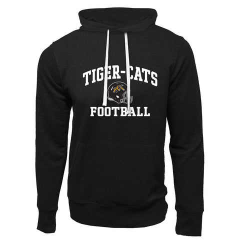 Hamilton Tiger-Cats Adult Black French Terry Fashion Hoodie - Design 27