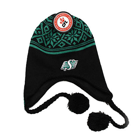 CFL Saskatchewan Roughriders Youth Helmet Hat - Black