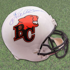 BC Lions Damon Allen Signed Full Size CFL Football Helmet