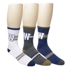 Winnipeg Blue Bombers Men's 3pk. Half Terry Crew Socks