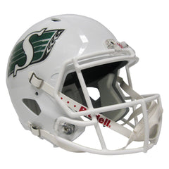 Saskatchewan Roughriders White Riddell Speed Replica Helmet