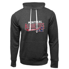Montreal Alouettes Adult Charcoal Heather French Terry Fashion Hoodie - Design 25