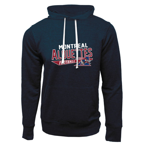Montreal Alouettes Adult Navy French Terry Fashion Hoodie - Design 25