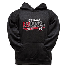 Ottawa REDBLACKS Youth Black Hoodie - Design 25