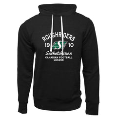 Saskatchewan Roughriders Adult Black French Terry Fashion Hoodie - Design 08