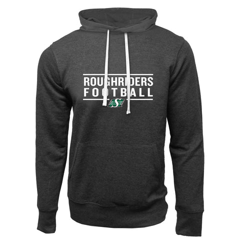 Saskatchewan Roughriders Adult Charcoal Heather French Terry Fashion Hoodie - Design 24