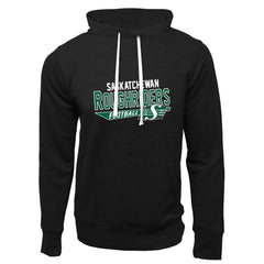 Saskatchewan Roughriders Adult Black French Terry Fashion Hoodie - Design 25