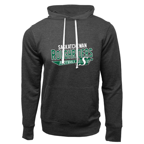 Saskatchewan Roughriders Adult Charcoal Heather French Terry Fashion Hoodie - Design 25