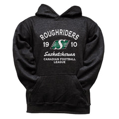 Saskatchewan Roughriders Youth Black Hoodie - Design 08