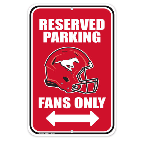 Calgary Stampeders 10x15 Parking Sign