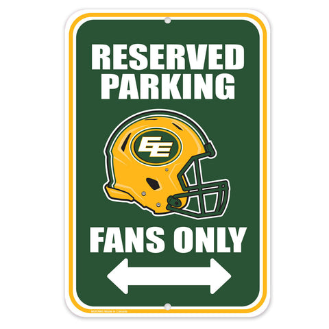 Edmonton Eskimos 10x15 Parking Sign