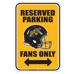 Hamilton Tiger-Cats 10x15 Parking Sign